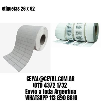 etiquetas 26 x 82
