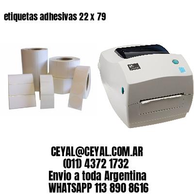 etiquetas adhesivas 22 x 79