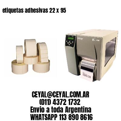 etiquetas adhesivas 22 x 95