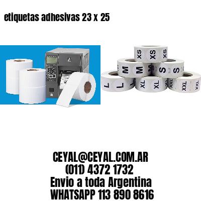 etiquetas adhesivas 23 x 25
