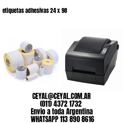 etiquetas adhesivas 24 x 98
