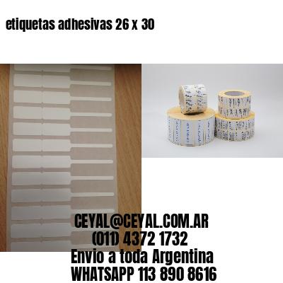 etiquetas adhesivas 26 x 30