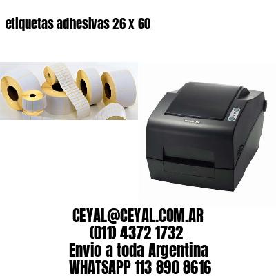 etiquetas adhesivas 26 x 60