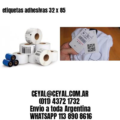 etiquetas adhesivas 32 x 85