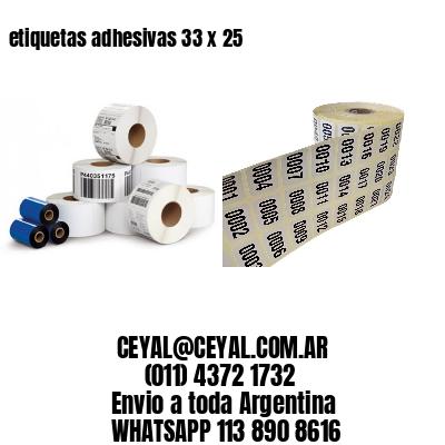 etiquetas adhesivas 33 x 25