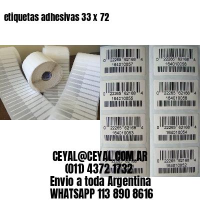 etiquetas adhesivas 33 x 72