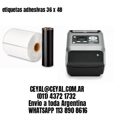etiquetas adhesivas 36 x 48