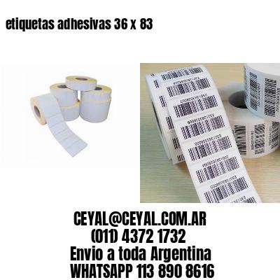 etiquetas adhesivas 36 x 83
