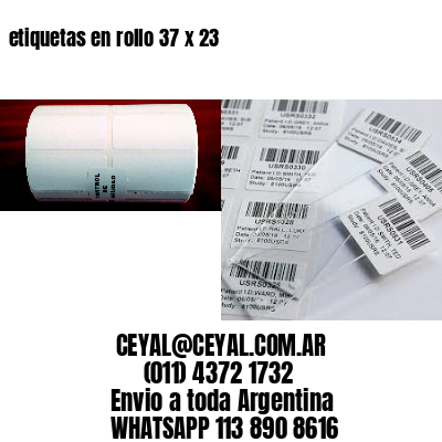 etiquetas en rollo 37 x 23