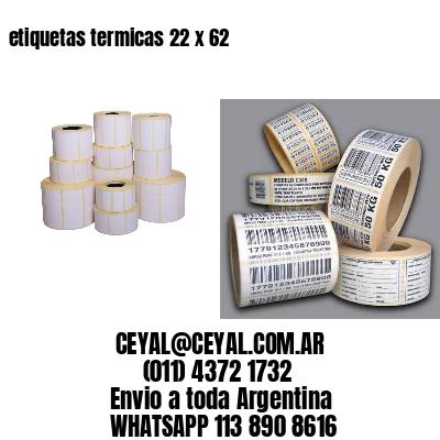 etiquetas termicas 22 x 62