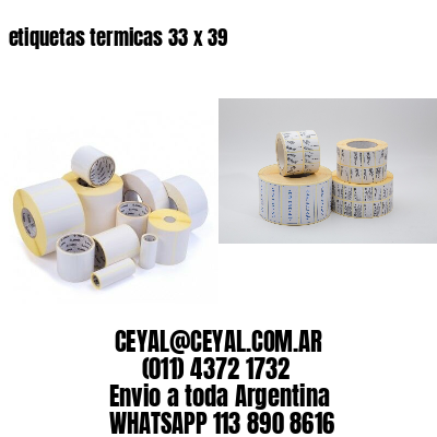 etiquetas termicas 33 x 39