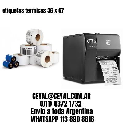 etiquetas termicas 36 x 67