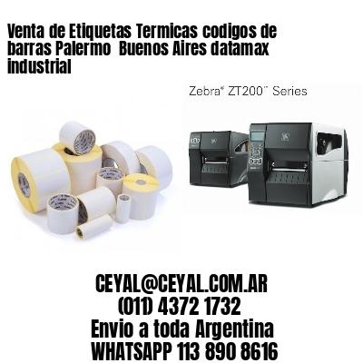 Venta de Etiquetas Termicas codigos de barras Palermo  Buenos Aires datamax industrial