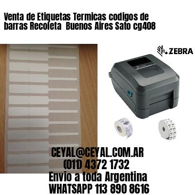 Venta de Etiquetas Termicas codigos de barras Recoleta  Buenos Aires Sato cg408