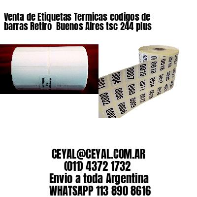 Venta de Etiquetas Termicas codigos de barras Retiro  Buenos Aires tsc 244 plus