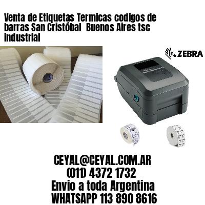 Venta de Etiquetas Termicas codigos de barras San Cristóbal  Buenos Aires tsc industrial