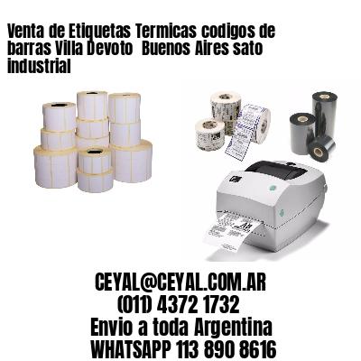Venta de Etiquetas Termicas codigos de barras Villa Devoto  Buenos Aires sato industrial