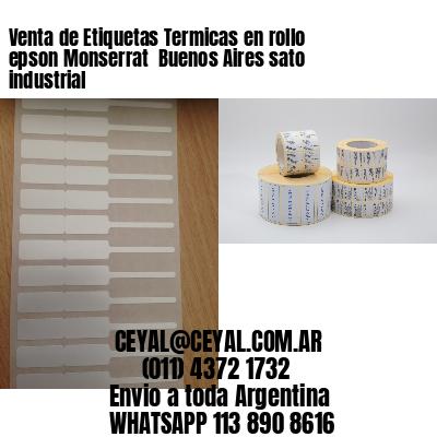 Venta de Etiquetas Termicas en rollo epson Monserrat  Buenos Aires sato industrial