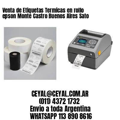 Venta de Etiquetas Termicas en rollo epson Monte Castro Buenos Aires Sato