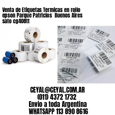 Venta de Etiquetas Termicas en rollo epson Parque Patricios  Buenos Aires sato cg408tt