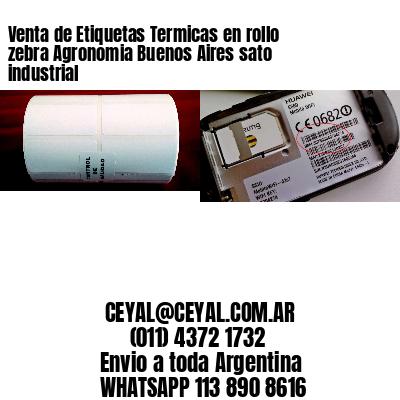 Venta de Etiquetas Termicas en rollo zebra Agronomia Buenos Aires sato industrial