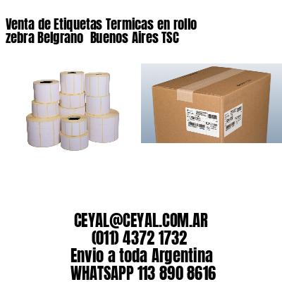 Venta de Etiquetas Termicas en rollo zebra Belgrano  Buenos Aires TSC