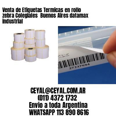 Venta de Etiquetas Termicas en rollo zebra Colegiales  Buenos Aires datamax industrial
