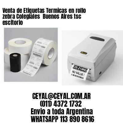 Venta de Etiquetas Termicas en rollo zebra Colegiales  Buenos Aires tsc escitorio