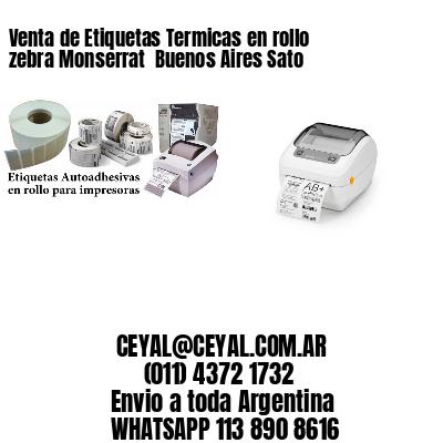 Venta de Etiquetas Termicas en rollo zebra Monserrat  Buenos Aires Sato