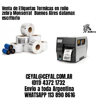 Venta de Etiquetas Termicas en rollo zebra Monserrat  Buenos Aires datamax escritorio