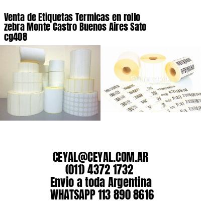 Venta de Etiquetas Termicas en rollo zebra Monte Castro Buenos Aires Sato cg408