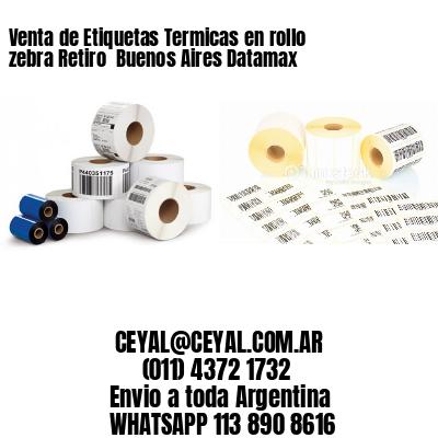 Venta de Etiquetas Termicas en rollo zebra Retiro  Buenos Aires Datamax