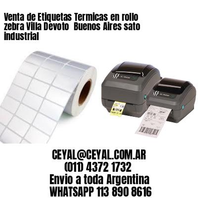 Venta de Etiquetas Termicas en rollo zebra Villa Devoto  Buenos Aires sato industrial