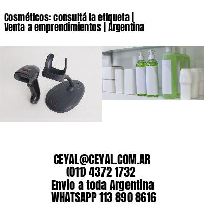 Cosméticos: consultá la etiqueta   Venta a emprendimientos   Argentina