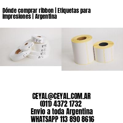 Dónde comprar ribbon | Etiquetas para impresiones | Argentina