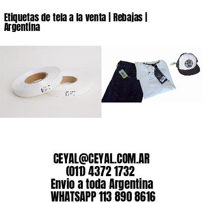 Etiquetas de tela a la venta   Rebajas   Argentina