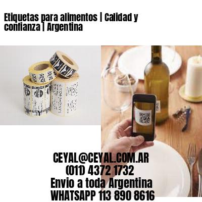 Etiquetas para alimentos | Calidad y confianza | Argentina