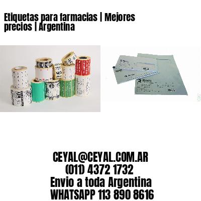 Etiquetas para farmacias | Mejores precios | Argentina