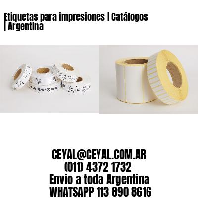 Etiquetas para impresiones   Catálogos   Argentina