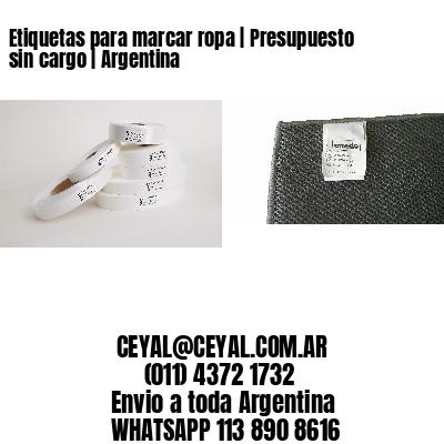Etiquetas para marcar ropa | Presupuesto sin cargo | Argentina