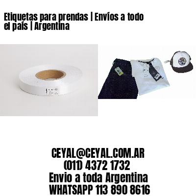 Etiquetas para prendas | Envíos a todo el país | Argentina