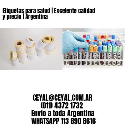 Etiquetas para salud | Excelente calidad y precio | Argentina