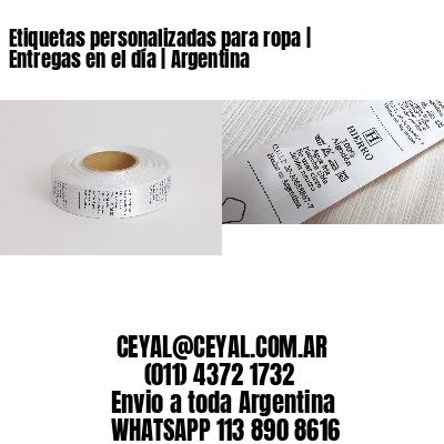 Etiquetas personalizadas para ropa | Entregas en el día | Argentina