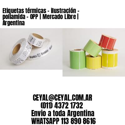 Etiquetas térmicas - ilustración - poliamida - OPP | Mercado Libre | Argentina