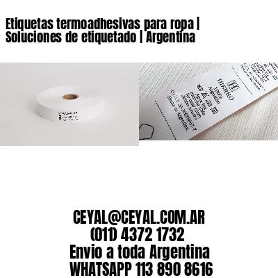 Etiquetas termoadhesivas para ropa   Soluciones de etiquetado   Argentina