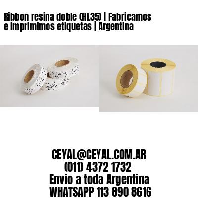 Ribbon resina doble (HL35) | Fabricamos e imprimimos etiquetas | Argentina