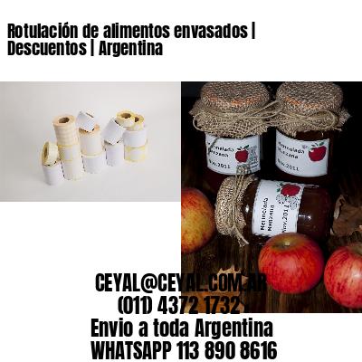 Rotulación de alimentos envasados | Descuentos | Argentina