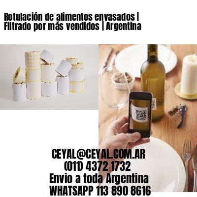 Rotulación de alimentos envasados | Filtrado por más vendidos | Argentina