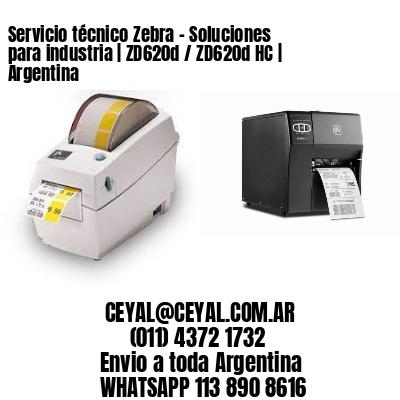 Servicio técnico Zebra - Soluciones para industria   ZD620d / ZD620d‑HC   Argentina