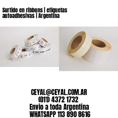 Surtido en ribbons | etiquetas autoadhesivas | Argentina